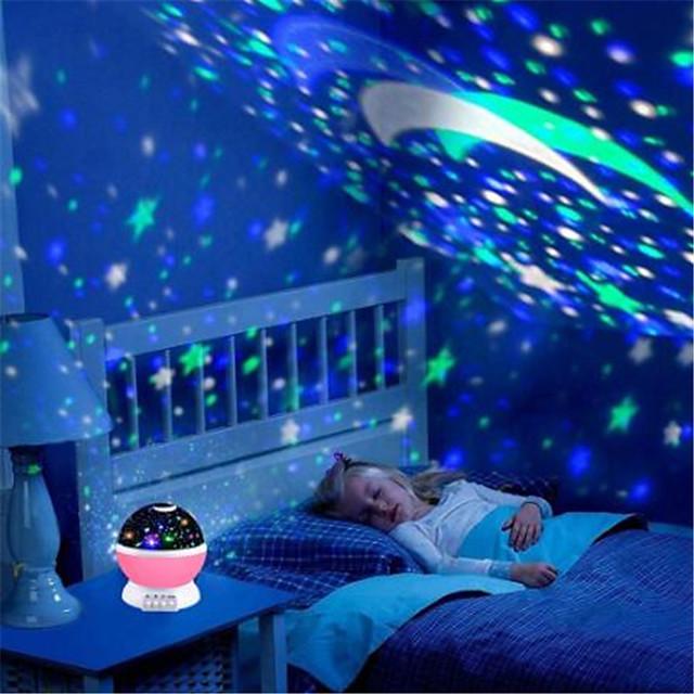 Projecteur Sky Light Galaxie Etoilée Lampe Ciel Etoilé Adorable 5 V 4 Piles AAA Alimenté par Port USB Enfant pour des cadeaux d'anniversaire et des cadeaux
