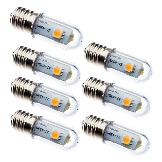 7pcs 0.5 W Becuri LED Corn 15 lm E14 3 LED-uri de margele SMD 5050 Decorativ Alb Cald Alb 100-240 V
