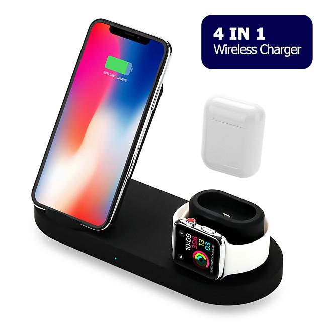 Cargador Wireless Cargador usb USB 5 A DC 9V / DC 5V para Apple Watch Series 4 / Apple Watch Serie 3 / Apple Watch Series 2 iPhone 11 / iPhone 11 Pro / iPhone 11 Pro Max