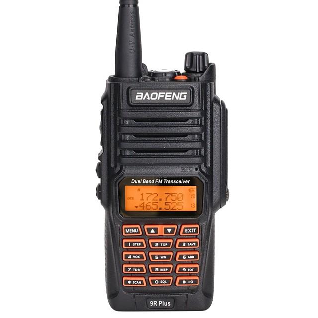 9Rplus Talkie walkie Portable Etanche Logiciel PC Programmable VOX Radio bidirectionnelle 5 - 10 km 5 - 10 km 2800 mAh 8 W