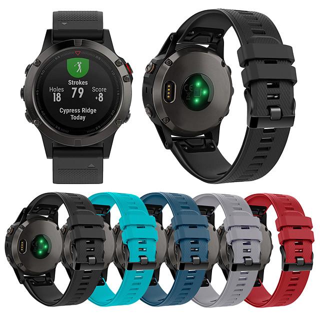 bandă smartwatch pentru abordare s60 / fenix 5 / fenix 6 garmin sport bandă moale confortabilă din silicon curea rapidă de încheietură 22mm