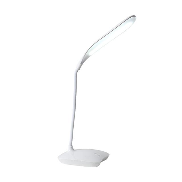 Lampe de Table / Lampe de Bureau / Lampe de lecture Protection des Yeux / Ajustable simple / Moderne contemporain Batterie Li intégrée Pour Chambre à coucher / Bureau / Bureau de maison PVC Blanche