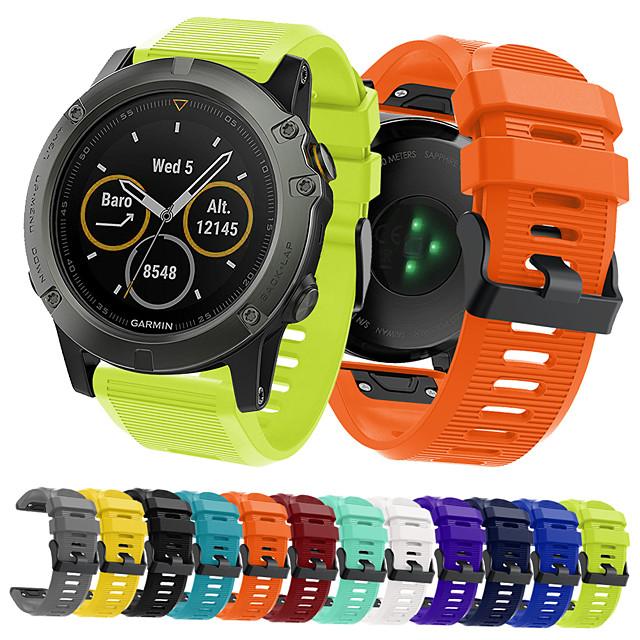 bandă smartwatch pentru fenix 5x / fenix 5x plus / fenix 3 garmin sport bandă moale confortabilă din silicon curea de mână 26mm