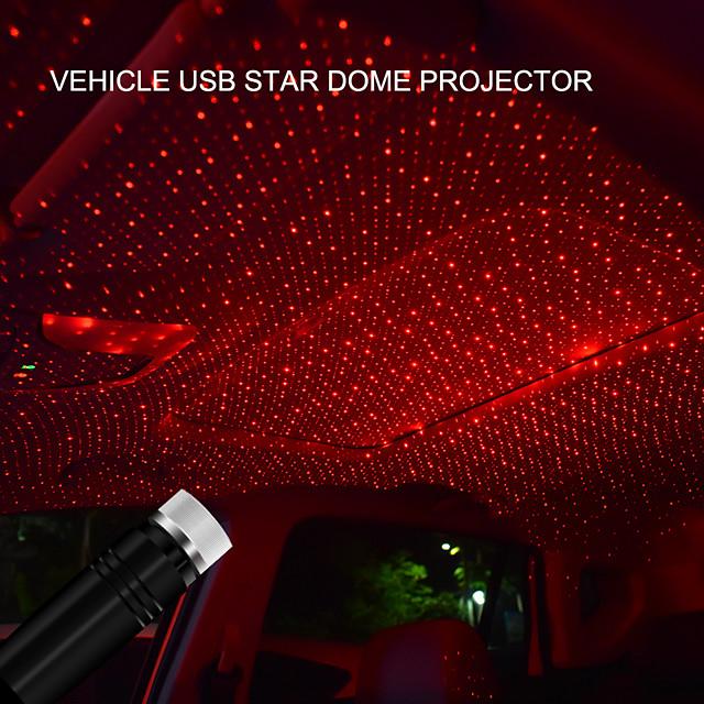usb led dak interieur sfeer ster licht twee kleuren voor auto's en woondecoratie projector verstelbare sfeer ambient nachtlampje lampe
