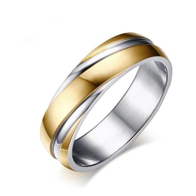 Herren Damen Ring Geometrisch Rotgold Gold Titanstahl Blume Modisch 1pc 5 6 7 8 9 / Herrn