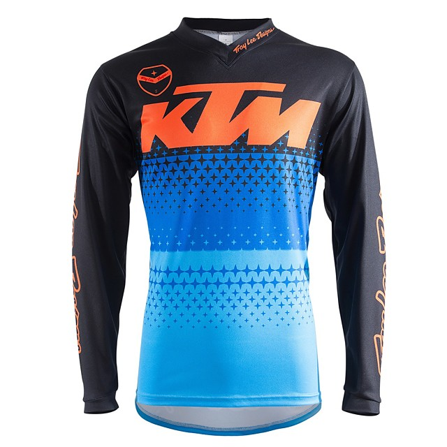 Motosiklet uzun kollu tişört motosiklet forması forması nem esneklik nefes açık spor off-road motosiklet yarış takım elbise çabuk kuruyan sürme takım elbise