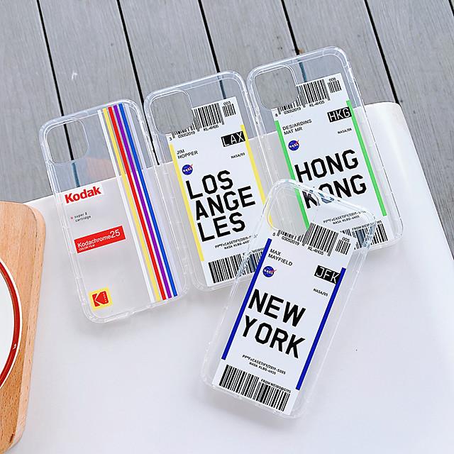غطاء من أجل Apple اي فون 11 / iPhone 11 Pro / iPhone 11 Pro Max ضد الصدمات غطاء خلفي شفاف / كارتون TPU