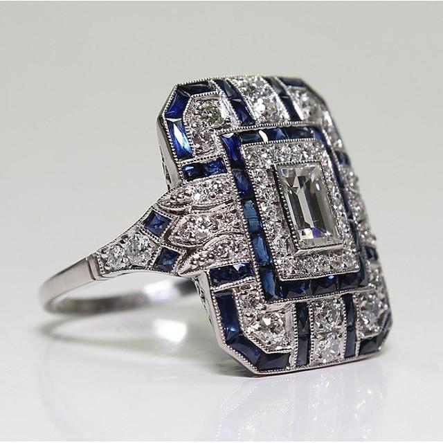 نسائي خاتم مكعب زركونيا 1PC أزرق نحاس سيدات موضة مناسب للبس اليومي حفلة ليلية مجوهرات كلاسيكي مهد كوول