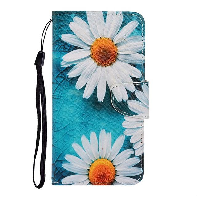 tok Για Samsung Galaxy Galaxy S10 / Galaxy S10 Plus / Galaxy S10 E Πορτοφόλι / Θήκη καρτών / με βάση στήριξης Πλήρης Θήκη Λουλούδι PU δέρμα