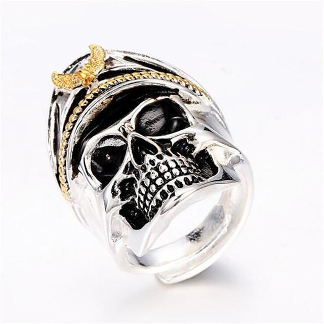 Muškarci Prilagodljivi prsten 1pc Srebro Geometric Shape Moda Dnevno Praznik Jewelry Geometrijski Lubanja Cool