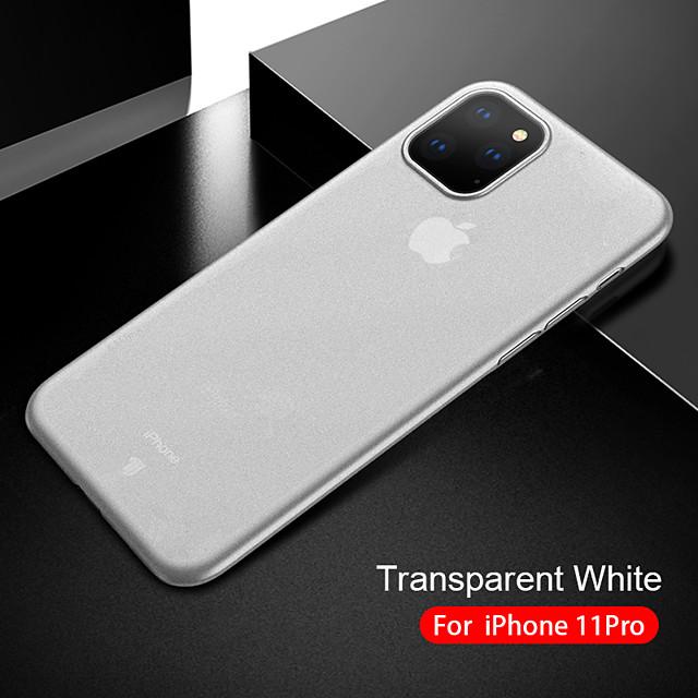 Custodia Per Apple iPhone 11 / iPhone XR / iPhone 11 Pro Traslucido Per retro Tinta unita TPU