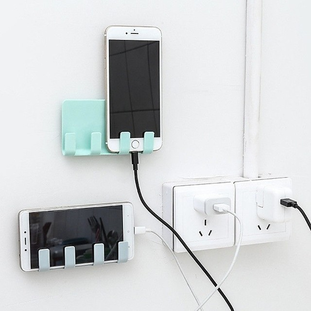 ホット製品ウォールホルダー実用的な充電ボックスブラケットスタンドシェルフマウントサポートユニバーサル携帯電話タブレットウォレット