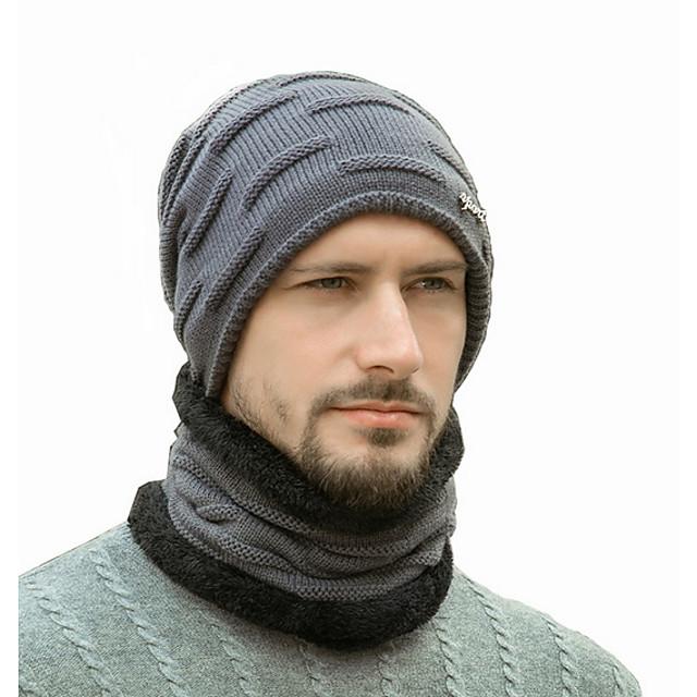 Heren Standaard Polyester,Bloemenprint Skimuts Zwart Marineblauw Grijs