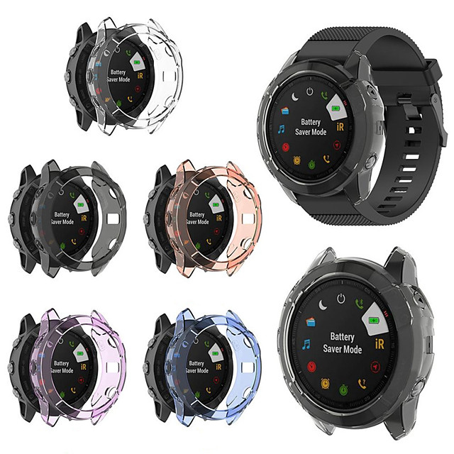 Soft Crystal Clear TPU Protector Case Cover For Garmin Fenix 6X Pro Smart Watch Protective Accessories