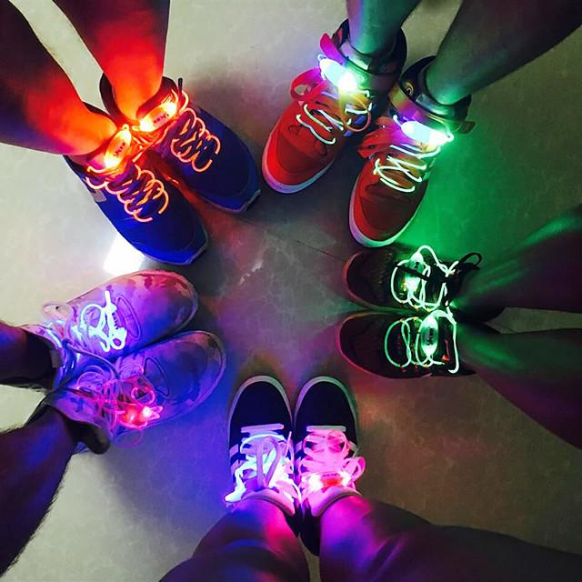 2 pcs Party Patinage Charmant LED Flash Light Up Glow Lacets Lacets De Chaussures Lacets Couleur Lacets Accessoires De Chaussures