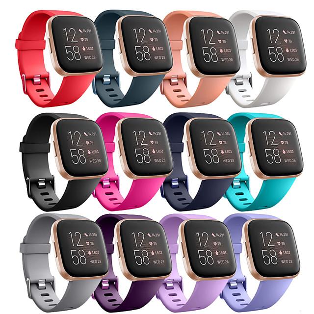 스마트 시계 밴드 용 핏빗 1 pcs 스포츠 밴드 실리콘 바꿔 놓음 손목 스트랩 용 Fitbit Versa Fitbi Versa Lite Fitbit Versa 2 L S