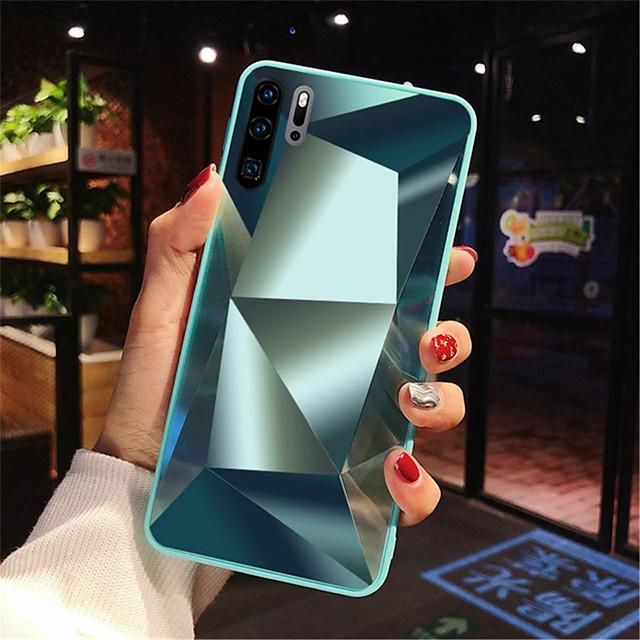 hoesje Voor Huawei Huawei P20 / Huawei P20 Pro / Huawei P20 lite Schokbestendig / Spiegel Achterkant Geometrisch patroon Acryl