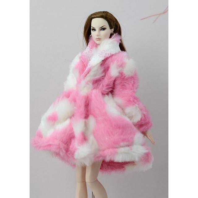 אביזרי בובה ביגוד לבובות שמלת בובה תלבושת בובה מעיל בובה שמלת חתונה מעיל\ז'קט מסיבה / ערב חתונה שמלת נשף בד לא ארוג טול תחרה בד כותנה פּוֹלִיאֶסטֶר שמיכת פליז-קורל לבובת 11.5 אינץ ' / בובה לא כלולה