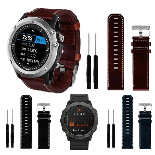 bandă smartwatch pentru fenix6x / 6x pro / 5x garmin buclă de înaltă calitate din piele naturală curea de încheietura 26mm