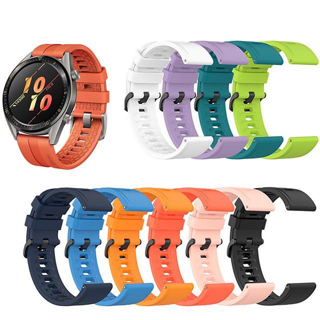 Спортивный силиконовый ремешок для часов для часов Huawei GT 2 46 мм / 42 мм / GT Active / часы 2 Pro / честь волшебный сменный браслет браслет ремешок браслет
