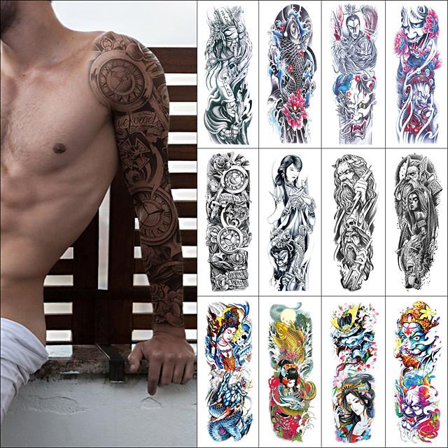 1 pcs Tatouages temporaires Etanche / Sécurité / Créatif Visage / Caisse / mains Autocollant de transfert d'eau Body Painting Colors