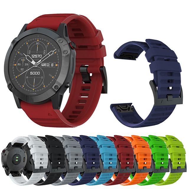 ремешок для часов fenix 6x / fenix 6x pro / fenix 3 спортивная группа garmin / классическая пряжка / современная пряжка силиконовый ремешок на запястье для garmin fenix 5x / fenix 5x pro
