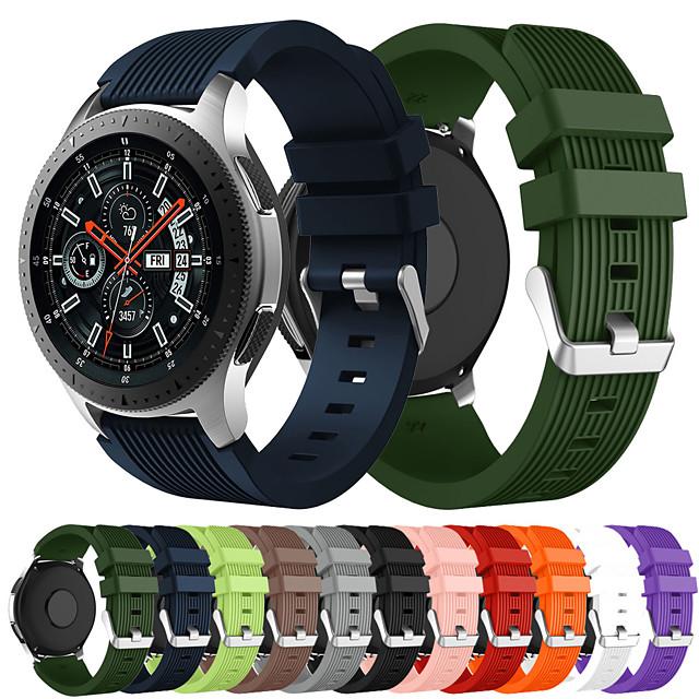 correa de reloj deportivo de silicona para reloj samsung galaxy 46mm r800 / gear s3 / gear2 r380 / gear2 neo r381 / live r382