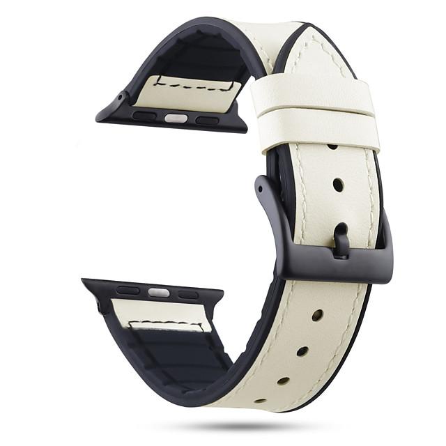 Ремешок для часов для Серия Apple Watch 5/4/3/2/1 Apple Спортивный ремешок силиконовый / Натуральная кожа Повязка на запястье