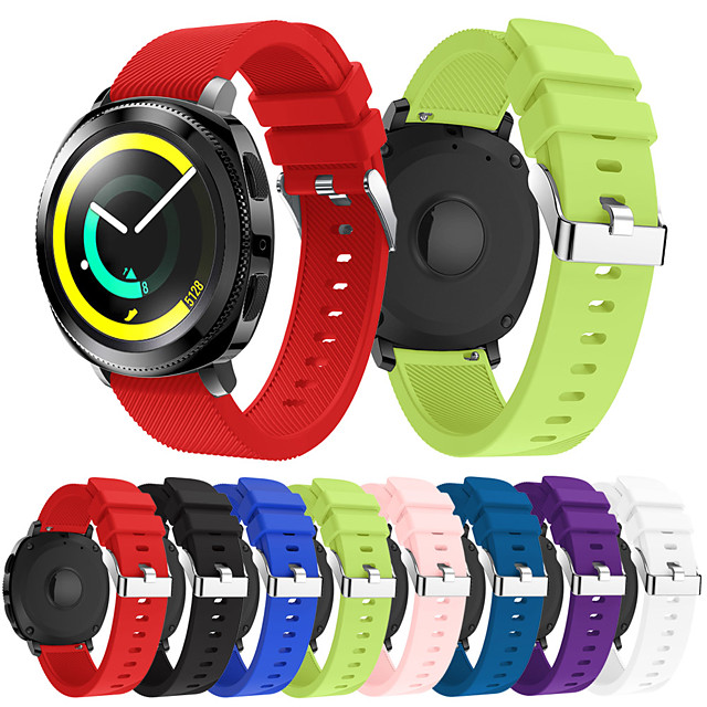 smartwatch band for samsung galaxy 42 / active / active2 / gear s2 / s2 classic / sport band fashion myk komfortabel silikon håndleddsstropp 20mm