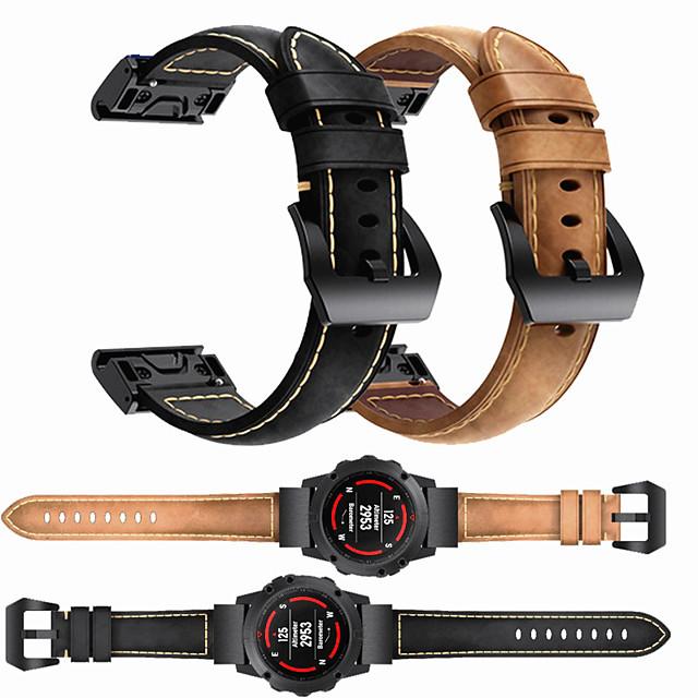 роскошный кожаный ремешок для часов для garmin fenix 6 pro / fenix 5 plus / заход на посадку s60 / forerunner 935 / quatix5 сапфировый быстросъемный браслет с браслетом на запястье