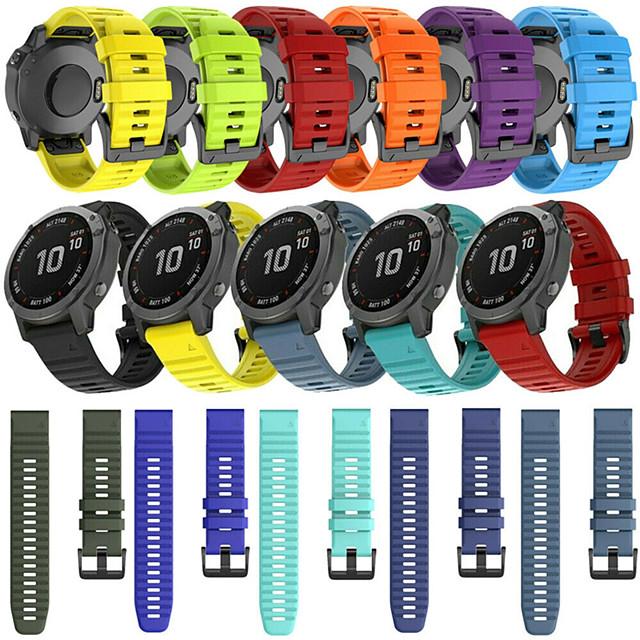 Quick Release Silicone Watch Band For Garmin Fenix 6 Pro / Fenix 5 Plus / Approach S60 / Forerunner 935 / Quatix5 Sapphire Watch Easy fit Replaceable Sport Bracelet Wrist Strap Wristband