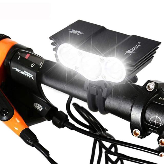 LED Lumini de Bicicletă Iluminat Bicicletă Față Becul farurilor Ciclism montan Bicicletă Ciclism Rezistent la apă Reîncărcabil Moduri multiple Foarte luminos 18650 3000 lm Baterie Camping / Cățărare