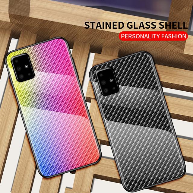 전화 케이스 제품 삼성 갤럭시 뒷면 커버 A50 Galaxy A81 / M60S Galaxy A41 충격방지 컬러 그라데이션 TPU 강화 유리