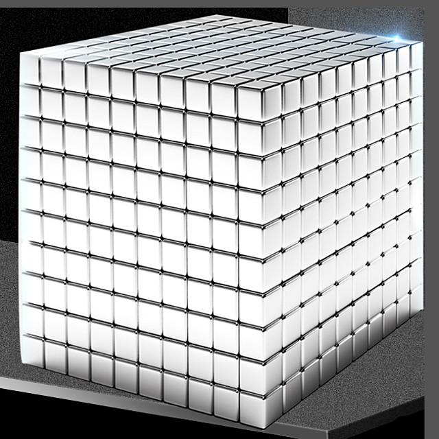 1000 pcs 5mm Jouets Aimantés Boules Magnétiques Blocs de Construction Aimants de terres rares super puissants Aimant Néodyme Aimant Cube Jouets Aimantés Magnétique Forme carrée Soulagement de stress