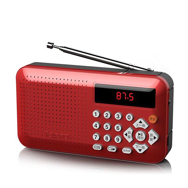 radio portatile ricaricabile mini altoparlante portatile radio mp3 portatile lettore mp3 digitale