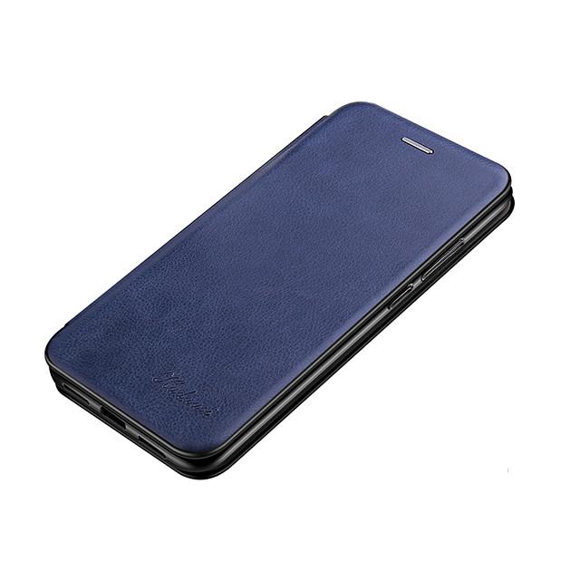 Etui Til Apple iPhone 12 / iPhone 11 / iPhone 12 Pro Max Pung / Kortholder / Flip Fuldt etui Ensfarvet PU Læder