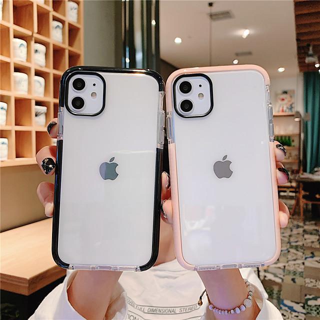 telefono Custodia Per Apple Per retro iPhone 12 Pro Max 11 SE 2020 X XR XS Max 8 7 6 Resistente all'acqua Transparente Transparente TPU