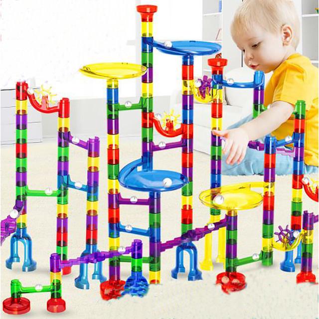 Stavba mramoru Sady mramorových stop Kuličkodráha 38-122 pcs Plast Udělej si sám Vzdělávací Parní hračka Unisex Chlapecké Dívčí Dětské Hračky Dárek
