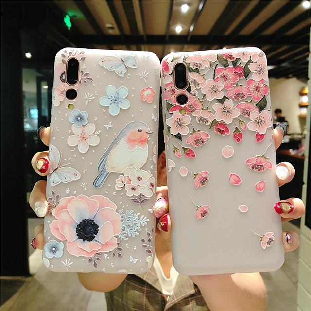 ケースhuawei社のシーンマップhuawei社p30 p30 lite p30プロ花柄塗装エンボスマットtpu素材オールインクルーシブ携帯電話ケース