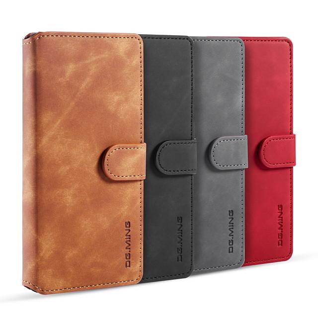 Custodia Per Huawei Huawei P20 / Huawei P20 Pro / Huawei P20 lite Porta-carte di credito / Resistente agli urti Integrale Tinta unita pelle sintetica