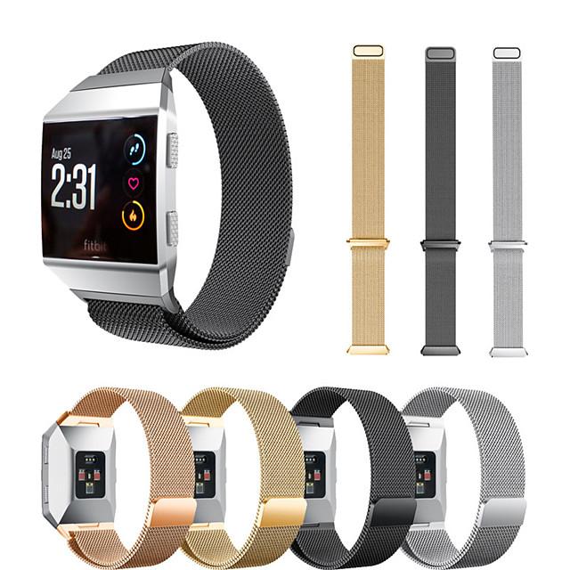حزام إلى Fitbit ionic فيتبيت عقدة ميلانزية ستانلس ستيل شريط المعصم