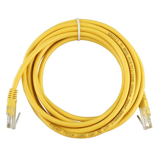 10m galben de rețea externă de cablu Ethernet cat5e 100% cupru rj45 mar24 de calitate superioară