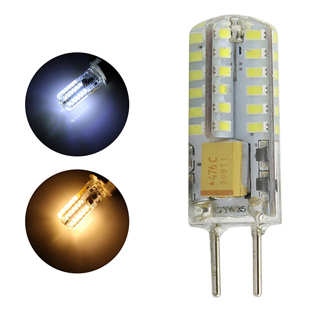 gy6.35 ampoule led 1w 12v ac / dc led lampada 48 leds 3014 led lampe suspension 360 degrés lustre lumière whtie blanc chaud 1pc / lot