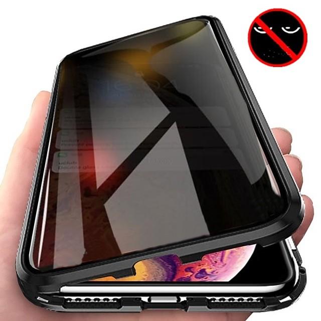 магнитный чехол для iphone x xs xr max iphone 11 11pro 11pro max se2020 двухсторонний магнитный защитный чехол конфиденциальность чехол из закаленного стекла