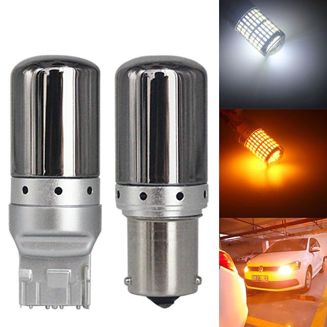 2pcs canbus s25 1156 ba15s p21w bau15s py21w t20 7440 w21w led ampoules 3014 144smd sans erreur canbus clignotants feux de freinage lampe