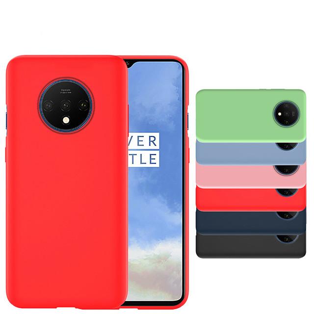 전화 케이스 제품 OnePlus 뒷면 커버 실리콘 원 플러스 7 Oneplus 7 Pro 하나 더하기 7T 하나 더하기 7T Pro 충격방지 울트라 씬 솔리드 실리콘 면 섬유