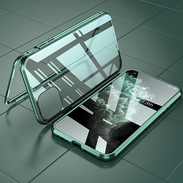 Кейс для Назначение Apple iPhone 12 / iPhone 12 Mini / iPhone 12 Pro Max Защита от удара Кейс на заднюю панель Однотонный Алюминий