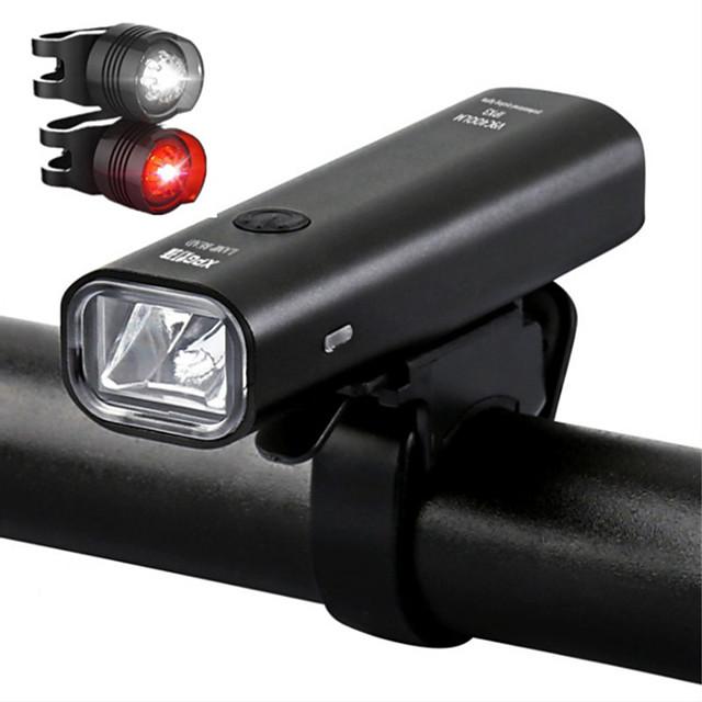 LED Luci bici Luce frontale per bici luci di sicurezza LED Bicicletta Ciclismo Uscita di ricarica USB Rilascio rapido Duraturo Batteria al litio 200/360 lm Batteriaricaricabile Built-in alimentazione
