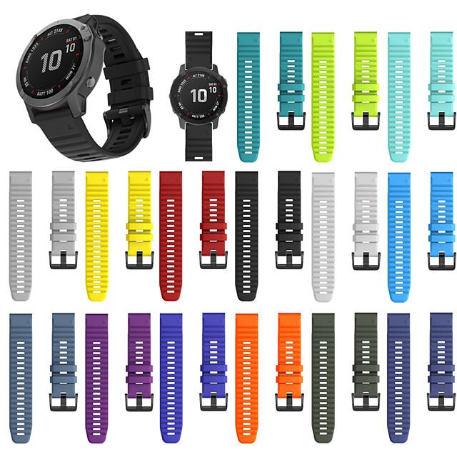 smartwatch band для garmin fenix 6x / 6x pro / fenix5x / 5x plus / 3 / 3hr / d2 sport band мягкий удобный силиконовый ремешок quickfit 26 мм