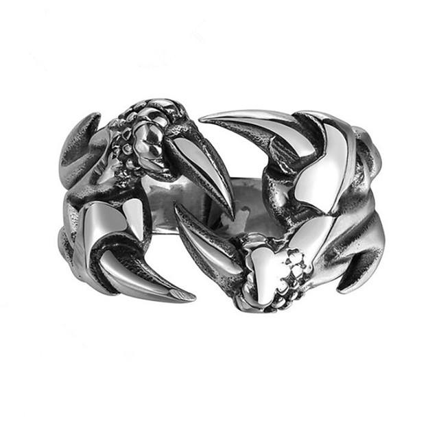 Bărbați Inel Geometric Argintiu Oțel titan Vertical Modă 1 buc 8 9 10 11 12
